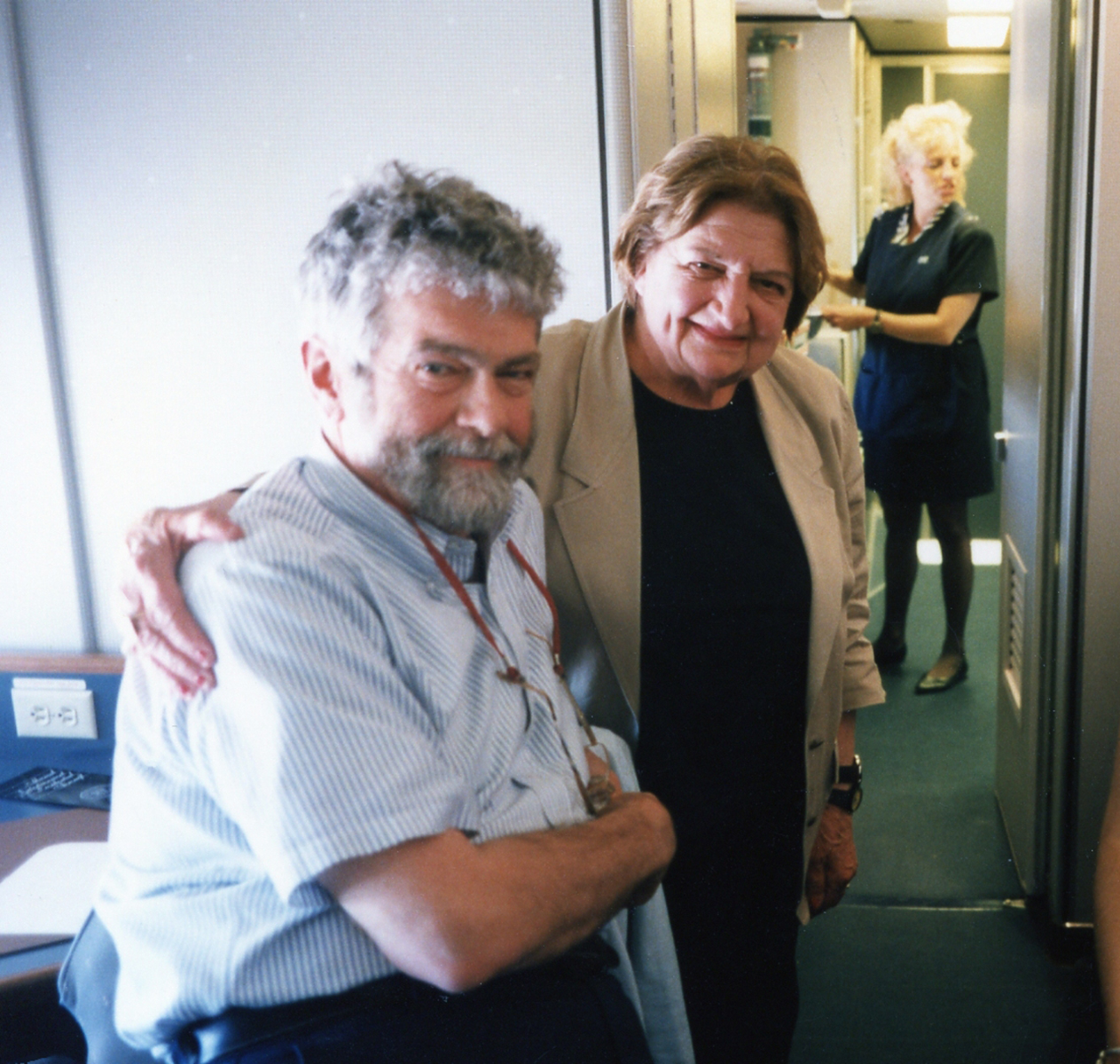 Air Force One with Helen Thomas 1996